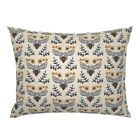 Bee Insect Bug Nature Botanical Mod Pillow Sham by Roostery image