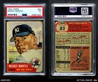 1953 Topps #82 Mickey Mantle Yankees PSA 1 - POORBaseball Cards - 213
