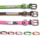 Dog Use  Name With Tag Artificial Leather Pet Collar Adjustable Anti Lost