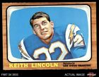 1966 Topps #127 Keith Lincoln Chargers Washington St 6 - EX/MT $7.25 USD on eBay