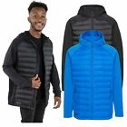 DLX Cade Men's DLX Hydrophobic Down Body Jacket in Black & Blue