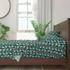 Corgi Beer Wine Martini Champagne Dog 100% Cotton Sateen Sheet Set by Roostery
