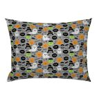 Ghost Witch Pumpkin Spider Vampire Halloween Pillow Sham by Roostery image