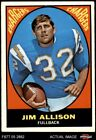 1967 Topps #122 Jim Allison Chargers San Diego St / El Camino College 5 - EX $2.55 USD on eBay