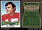 1975 Topps #158 Jim Turner Broncos Utah St 7 - NM