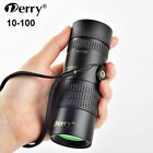US Derry 10-100x30 Outdoor Pocket-Size HD Vision Monocular Telescope + Tripod image