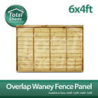 6ft x 4ft OVERLAP WANEY LARCH LAP PANELS ***PACK OF 10*** Brand New