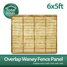 6ft x 5ft OVERLAP WANEY LARCH LAP PANELS ***PACK OF 10*** Brand New