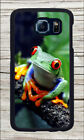 FROG RED EYE TROPICAL RAIN FOREST CASE COVER FOR SAMSUNG GALAXY S6 -fty5X