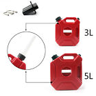 3L Motorcycle Jerry Cans Gas Diesel Fuel Tank For Car with Lock+Mounting S