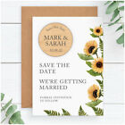 Sunflower PERSONALISED Wedding Save The Date Fridge Magnets Spring Summer Floral