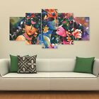 Lord+Krishna+Art+Split+5+Frames+Wall+Panels+for+Living+Room+%23151-+HKTPIC-AU