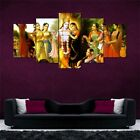Lord+Krishna+Art+Split+5+Frames+Wall+Panels+for+Living+Room+%23170+-+HKTPIC-AU