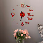 Hot DIY Wall Clock Modern Design 3D Mirror Surface Wall Sticker Clock Home Decor