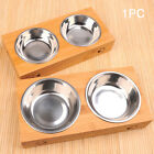 Double Food Water Anti Slip Durable Stainless Steel Pet Bowl Cat Dish Feeders