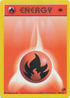 Fire Energy Common Pokemon Card 1st Edition Gym Challenge 128/132