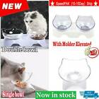 1pc Pets Feeding Dog Cat Water Bowl Removable Food Bowls With Holder Elevated