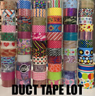 Lot of Random Patterned / Printed Duct Tape Rolls - Duck Tape Wholesale Cheap