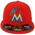 New Era MLB Miami Marlins 5950 Baseball Cap Hat Authentic On-Field Made in USA