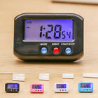 Small LCD Digital Time&Date Alarm Clock Stop Snooze Night Light Kitchen 4-colour