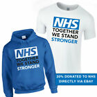 TOGETHER WE STAND STRONGER Tshirt Tee Top Support NHS 20% Goes to NHS Charity