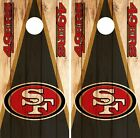 San Francisco 49ers Cornhole Skin Wrap NFL Wood Decal Vinyl Board Logo DR632