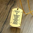 Vnox The Serenity Prayer Dog Tag Necklaces for Men Women Black Gold and Color