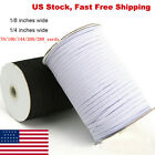 Braided Elastic Band Cord Knit Band Sewing 1/8 1/4in 70/90/100/200 Yards DIY US