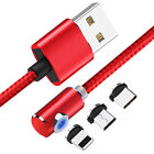 1M/2M 360 Magnetic Fast Charger Cable for Apple iOS iPhone Samsung Android