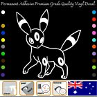Umbreon Eeve Permanent Adhesive Vinyl Decal Sticker Car/wall/laptop/window,etc