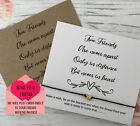 Friends Apart Heart Miss You Wish String Charm Card Friendship Bracelet Gift