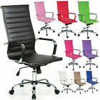 Home Computer Executive Office Desk Chair Faux Leather Pu Swivel High Back Seat.