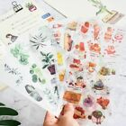 Cartoon Flowers Leaves Sticker Diy Diary Decor Scrapbook Stationery Bullet