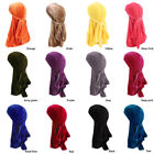 Breathable Unisex Men Women Velvet Hat Bandana Turban Cap Durag Headwear New