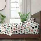Windowsill Succulents Boho Succulent 100% Cotton Sateen Sheet Set by Roostery