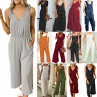 Womens Casual Summer Playsuit Jumpsuit Romper Tunic Long Pants Trousers Outfit