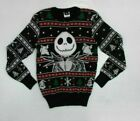 Disney Nightmare Before Christmas Jack Skellington Ugly Sweater New! (2D1