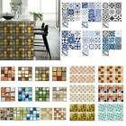6/10/20pcs Mosaic Tile Wall Stickers Home Kitchen Self-adhesive Waterproof Decal