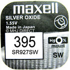 MAXELL 395 SR927SW Silver Oxide 1.55v Watch Battery SELECT 1 2 3 4 5 & 10 x QTY