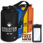 Waterproof Dry Bag Roll Top Gear Bag Kayaking, Fishing, Camping - Evolution