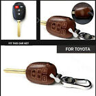 Classic Cowhide Car Key Fob Case Cover Bag For TOYOTA CAMRY COROLLA 2014-2018 $17.2 USD on eBay
