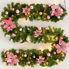 2M Christmas Garland Decorations Xmas Fireplace Pine Ribbon