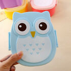 Cartoon Owl Plastic Durable Lunch Box Bento Meal Portable Food Storage Container