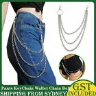 1xkey Chains Clip Pants Keychain Wallet Chain Belt Biker Link Hip Hop Jewelry Au