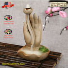 Ceramic Backflow Incense Cone Burner Moutain Waterfall Fy036 & 10pcs Cones Gift