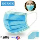 Disposable Face Mask Protective Masks 3-Ply Filter Mouth Cover Nose Clip