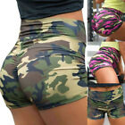 Women Camouflage Shorts Compression Yoga Pants Booty Sports Gym Fitness Trousers