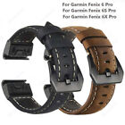 For Garmin Fenix 3 5 5X 5S Plus 6 6X Pro Quick Release Luxury Leather Strap Band