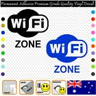 2x Wifi Zone - Permanent Adhesive Vinyl Decal Sticker Car/wall/laptop