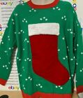 Ugly CHRISTMAS STOCKING SWEATER Fill The Stocking UGLY SWEATER Men's  XL XXL NWT